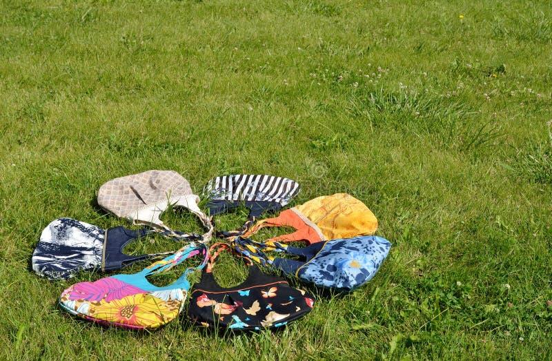 Handmade женские сумки стоковые изображения rf