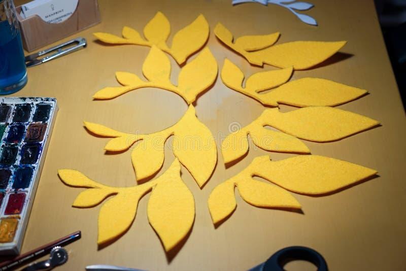 Handmade желтый план стоковое фото rf