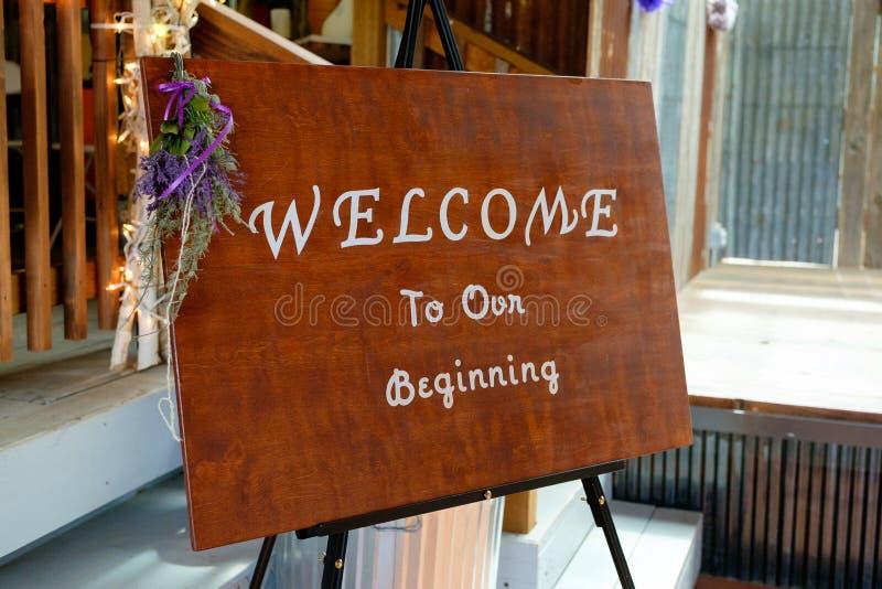 Handmade знак свадьбы стоковое изображение rf