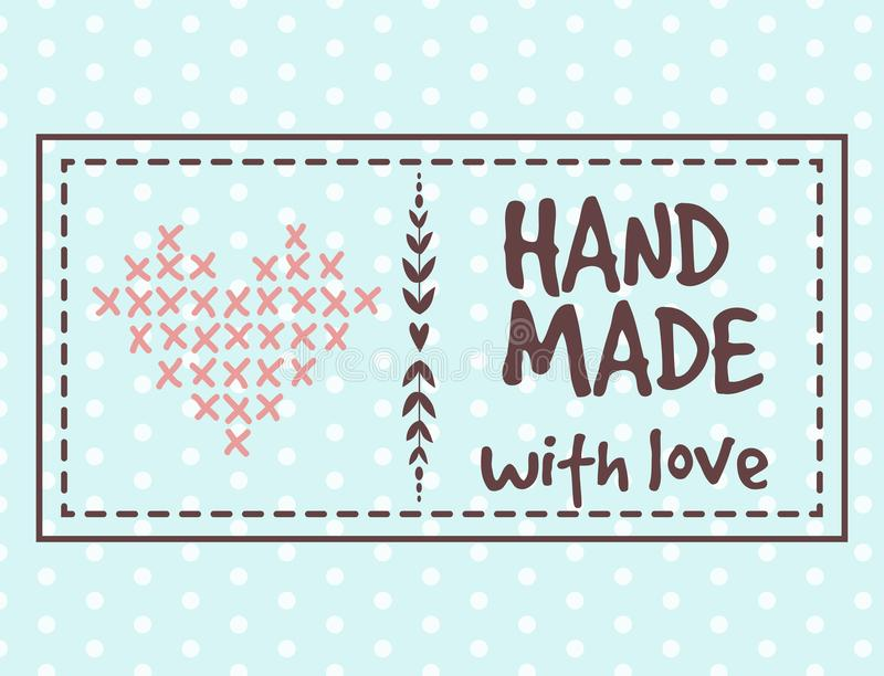 Handmade значки ремесла needlework шить моду знамен портняжничая элементы ремесленничества портноя vector иллюстрация бесплатная иллюстрация