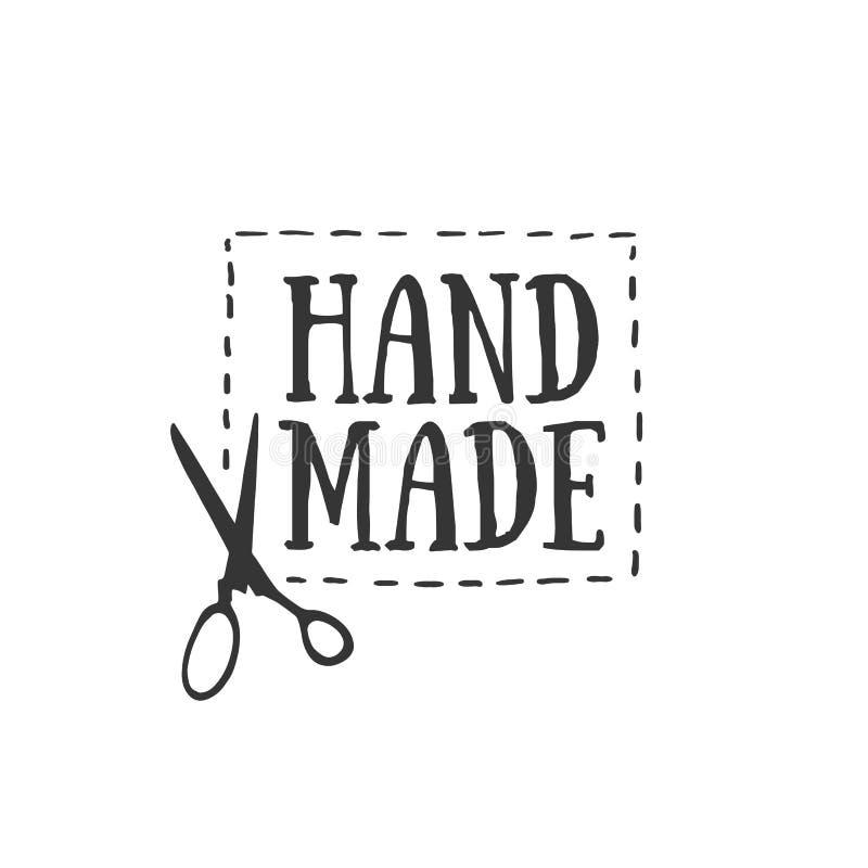 Handmade значки, ярлыки и элементы логотипа, ретро символы для местного шить магазина, клуб knit, handmade художник или knitwear бесплатная иллюстрация