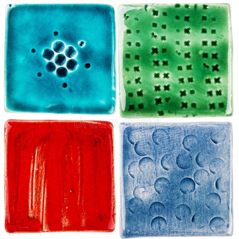 Handmade керамические плитки стоковое изображение