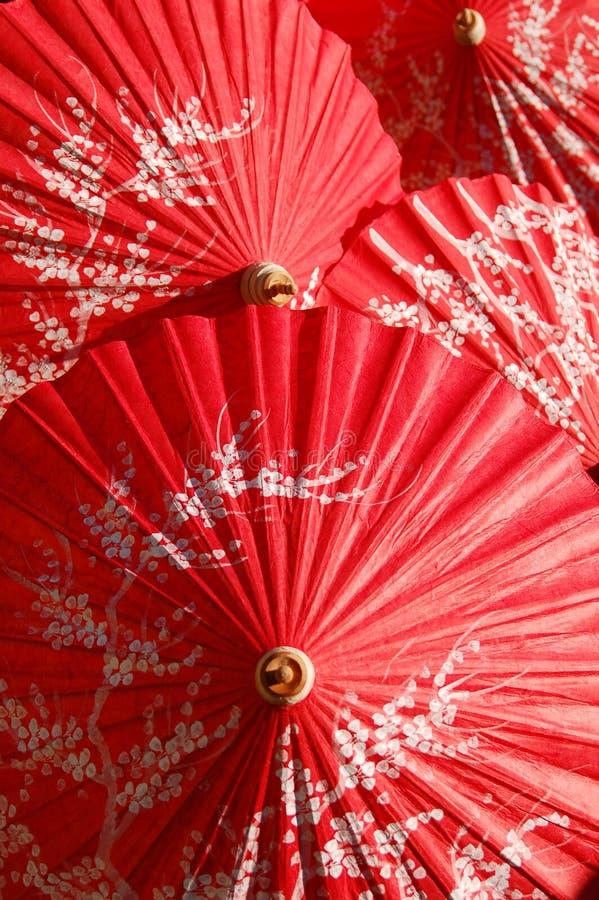 handmade красный цвет парасоля стоковое фото