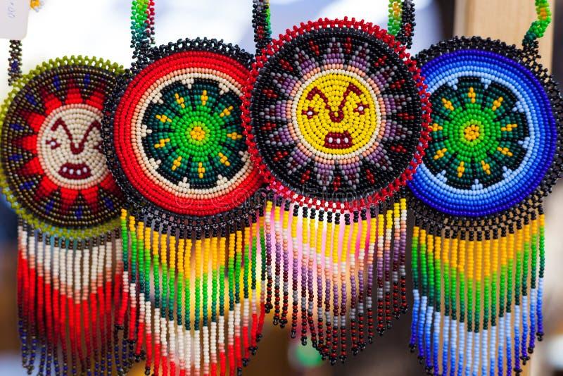 Handmade красочные ожерелья шариков/handmade ювелирные изделия стоковые изображения
