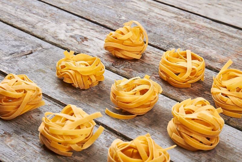 Handmade макаронные изделия tagliatelle стоковые изображения rf