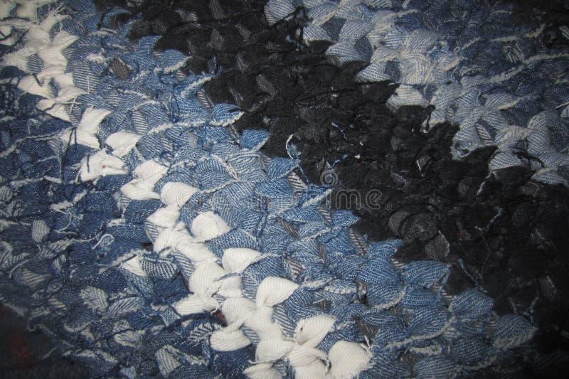 Handmade половик джинсовой ткани стоковая фотография