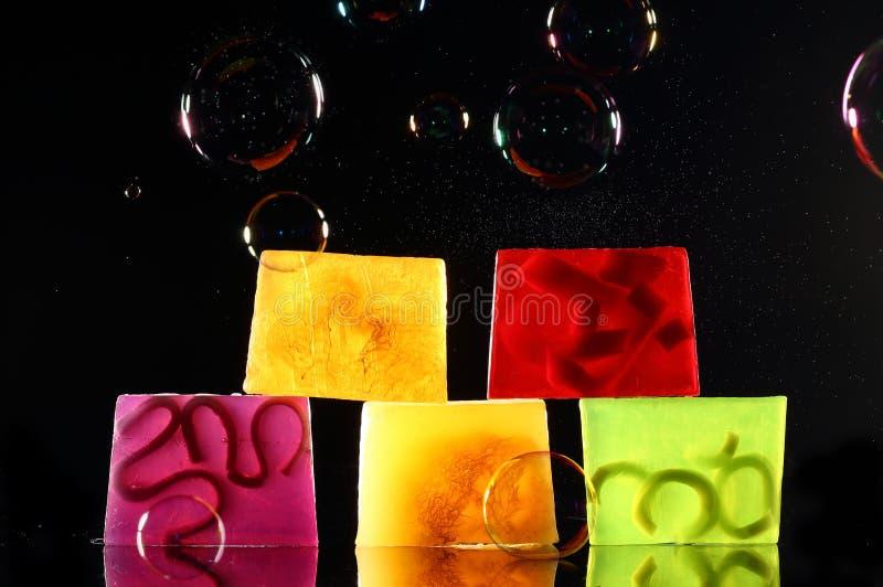 Handmade подсвеченное мыло стоковое фото