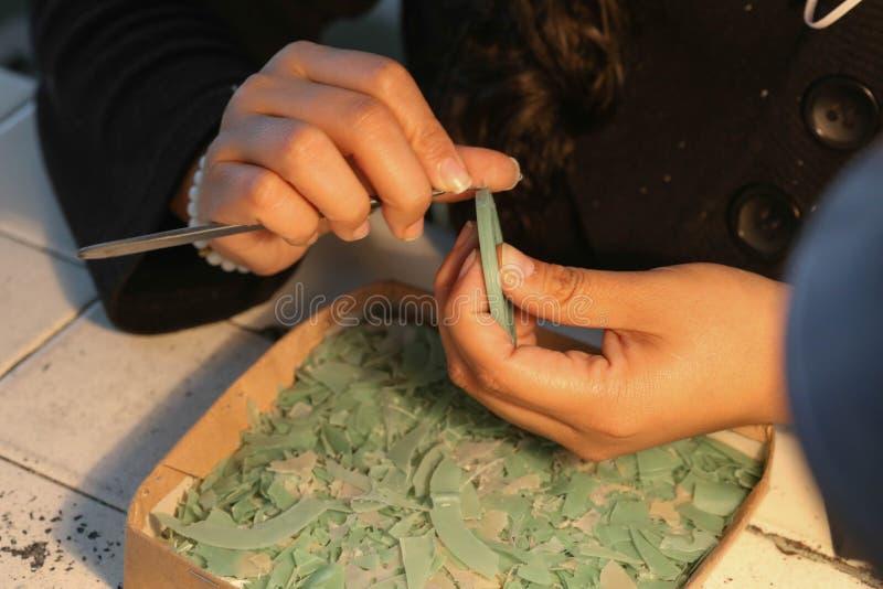 Handmade процесс ювелирных изделий стоковые фото