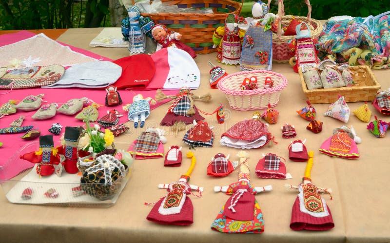 Handmade продукты на счетчике ярмарок стоковая фотография rf