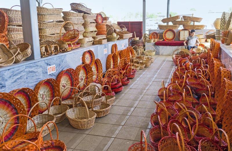 Handmade плетеные корзины стоковое фото