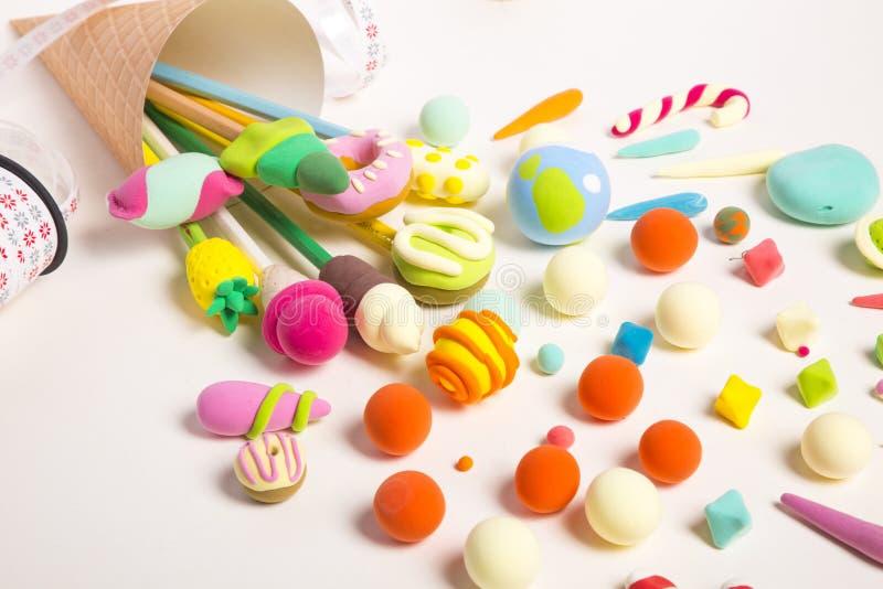 Handmade ремесла инструментов глины стоковые изображения
