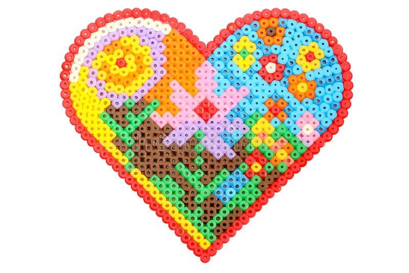 Handmade сердце applique сформировало сделанный из изолированных трубок на белизне бесплатная иллюстрация