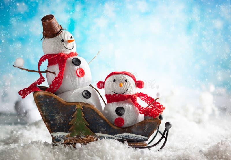 Handmade снеговик стоковые фотографии rf