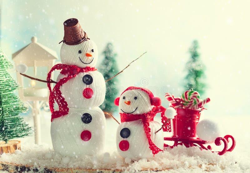 Handmade снеговик стоковое фото
