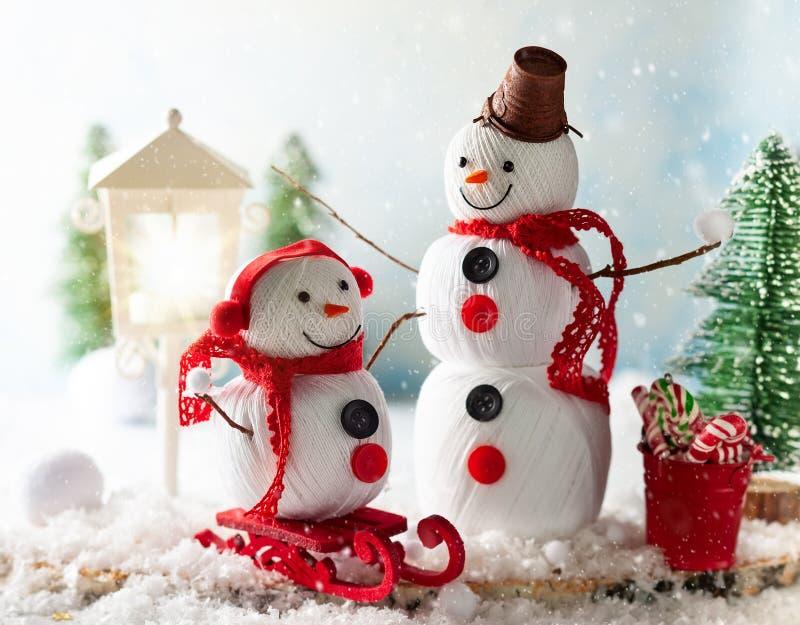 Handmade снеговик стоковые фото