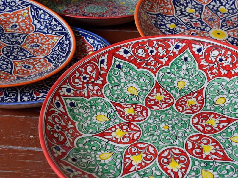 Handmade сувениры от Средней Азии, Ферганы, Узбекистана, маршрута шелка стоковые изображения