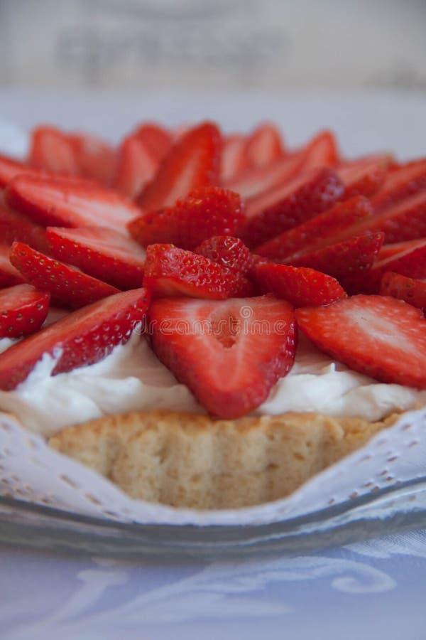 Handmade торт клубники стоковое фото