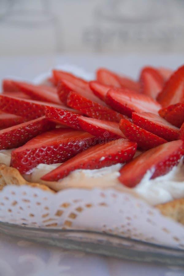 Handmade торт клубники стоковые фото