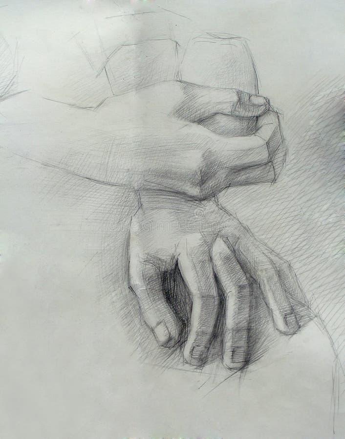 Handmade чертеж рук иллюстрация штока