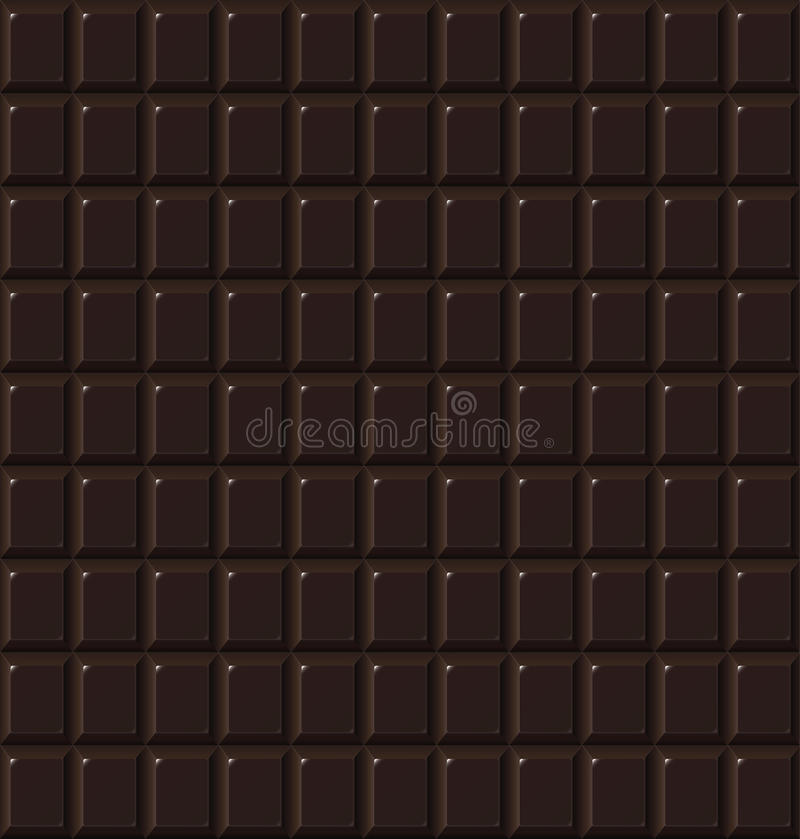 Handmade шоколада безшовная темная, био предпосылка еды иллюстрация штока