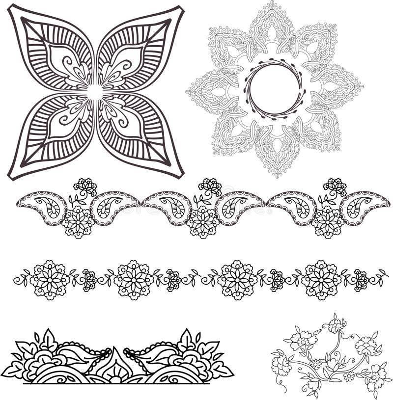 Handmade. Beautiful hand drawn vector pattern design good for textile, jewelery, henna and decorations. to see more patterns and floral designs. visit my
