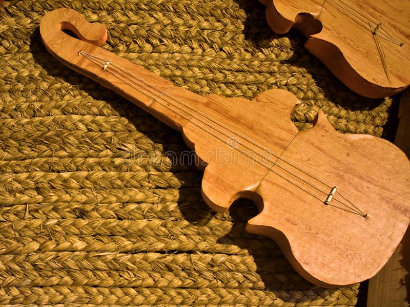 Handmade Acoustic guitars and Classic Guitar. Design String instrument from Guitar maker royalty free stock image