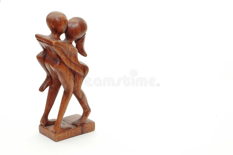 Handmade African Fertility Carving royalty free stock photo
