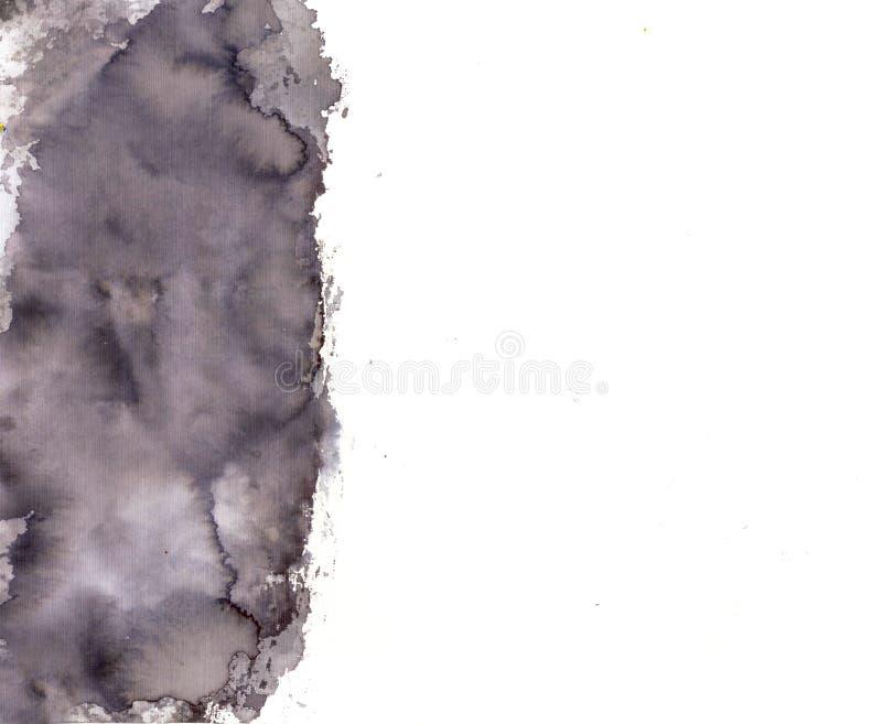Handmade akwareli czerni tło ilustracja wektor