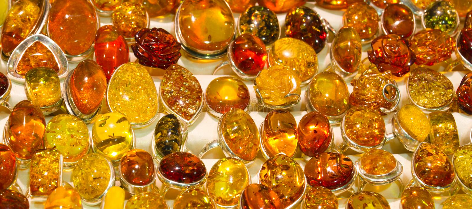 Download Handmade amber rings stock image. Image of bijouterie - 36217361