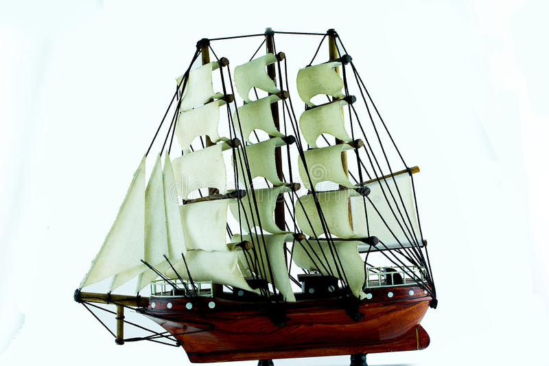Handmade argosy с белой предпосылкой стоковые фото