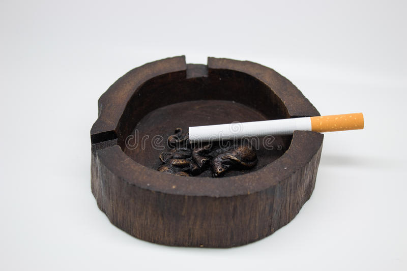 Handmade ashtray Adorned with elephant royalty free stock photo