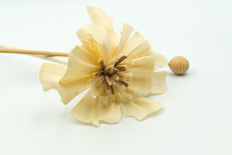 Handmade beige artificial flower for event stock photo