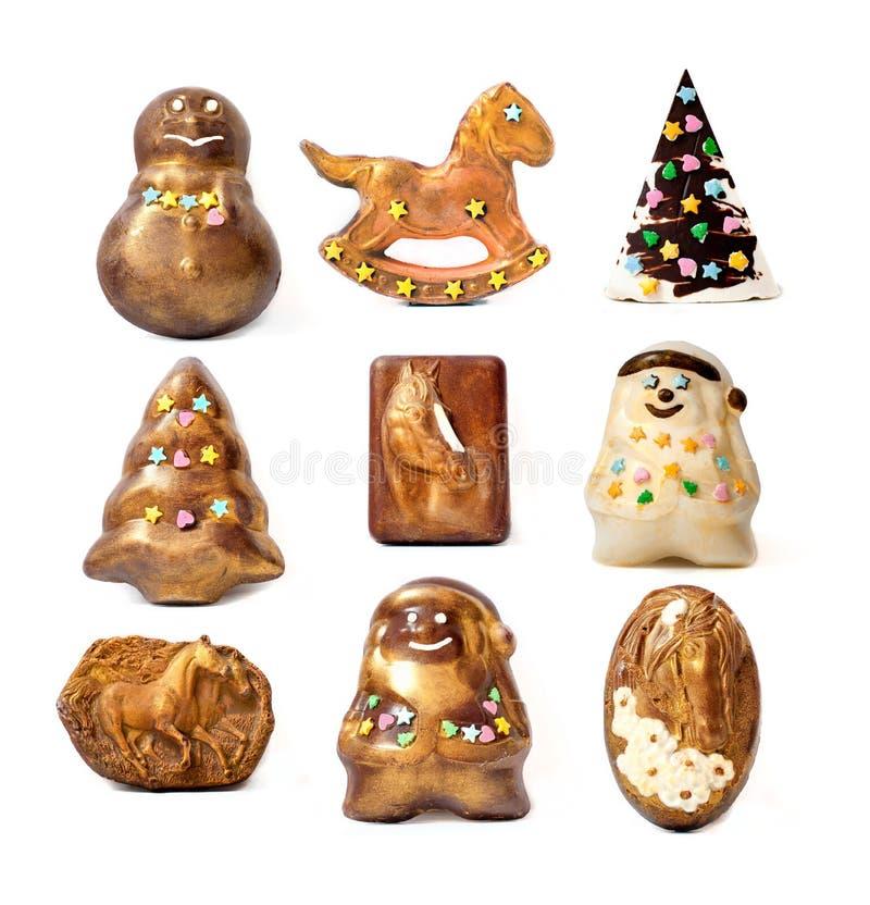 Handmade boże narodzenie czekolady zabawki. obraz royalty free