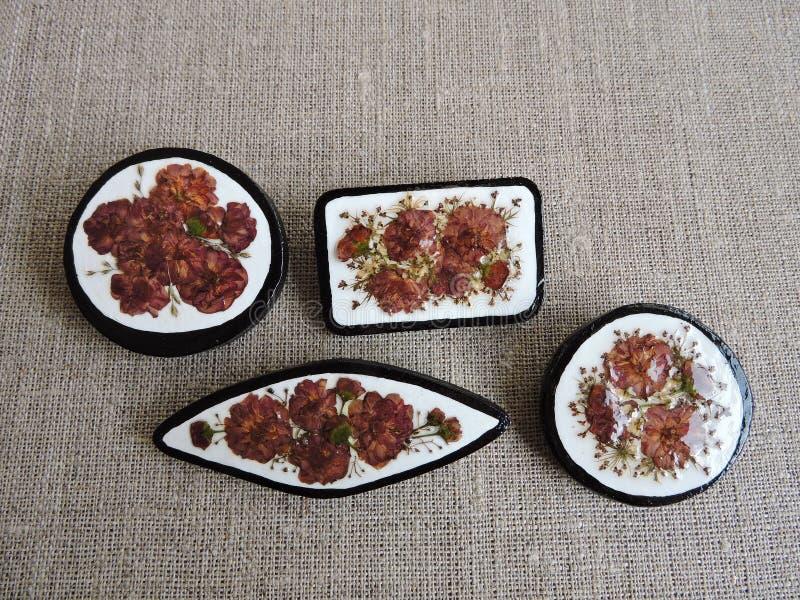 Handmade brooch stock photography