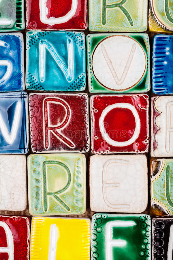 Download Handmade Ceramic Alphabet Background Stock Image - Image: 83709847