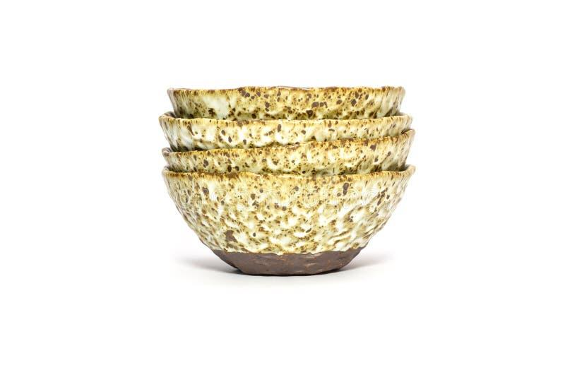 Download Handmade Ceramic Bowls Isolated On White Stock Photo - Image: 25850460