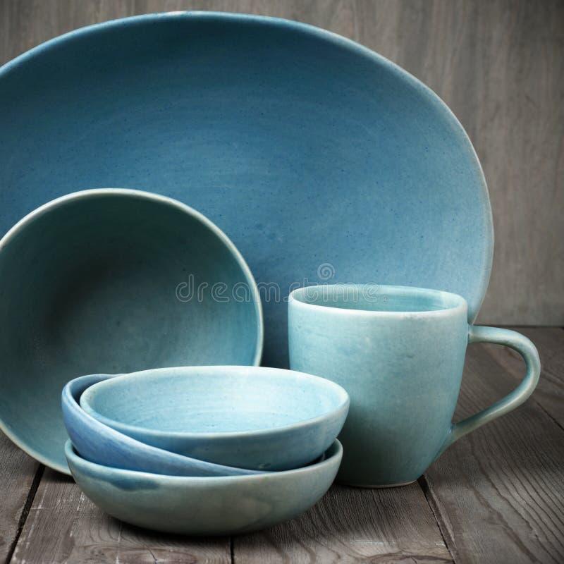 Handmade ceramiczny dishware zdjęcie stock