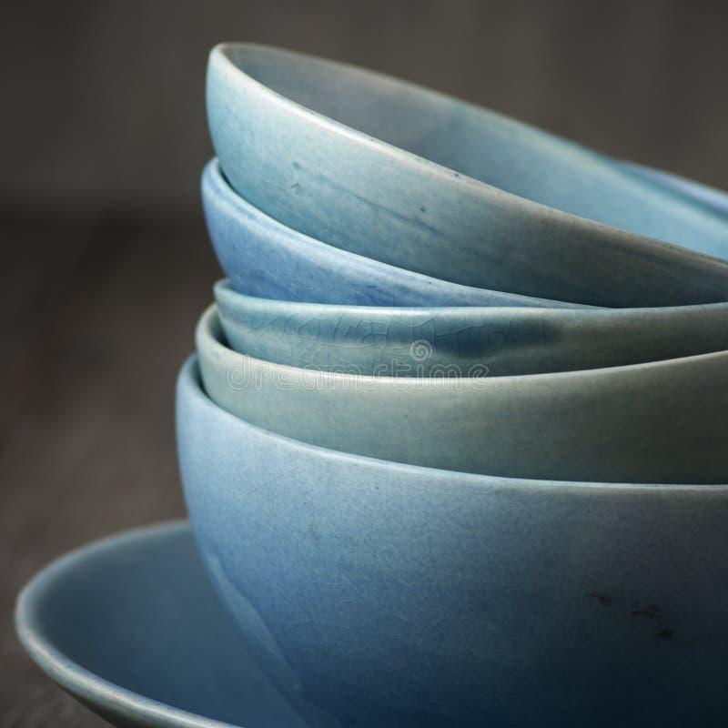 Handmade ceramiczny dishware obraz royalty free