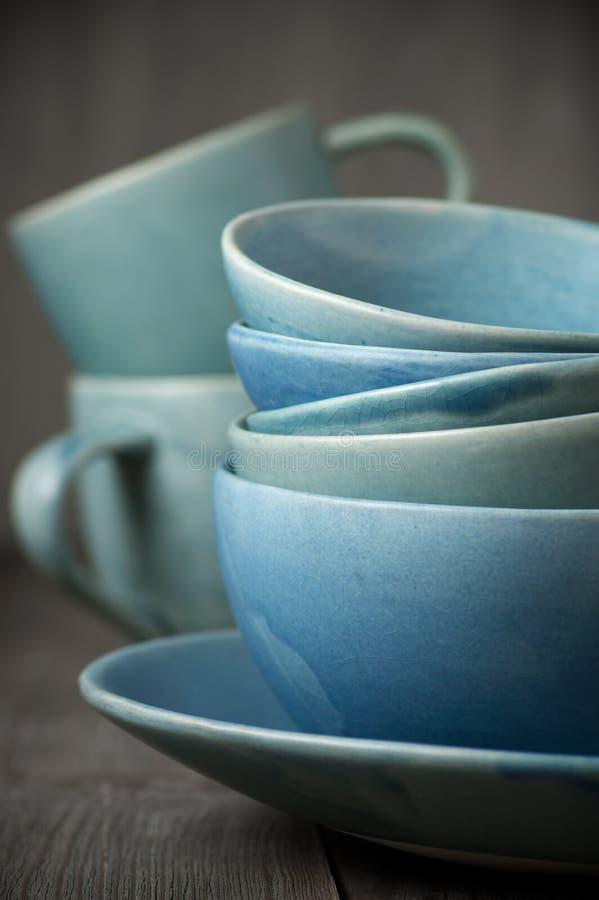 Handmade ceramiczny dishware zdjęcia stock