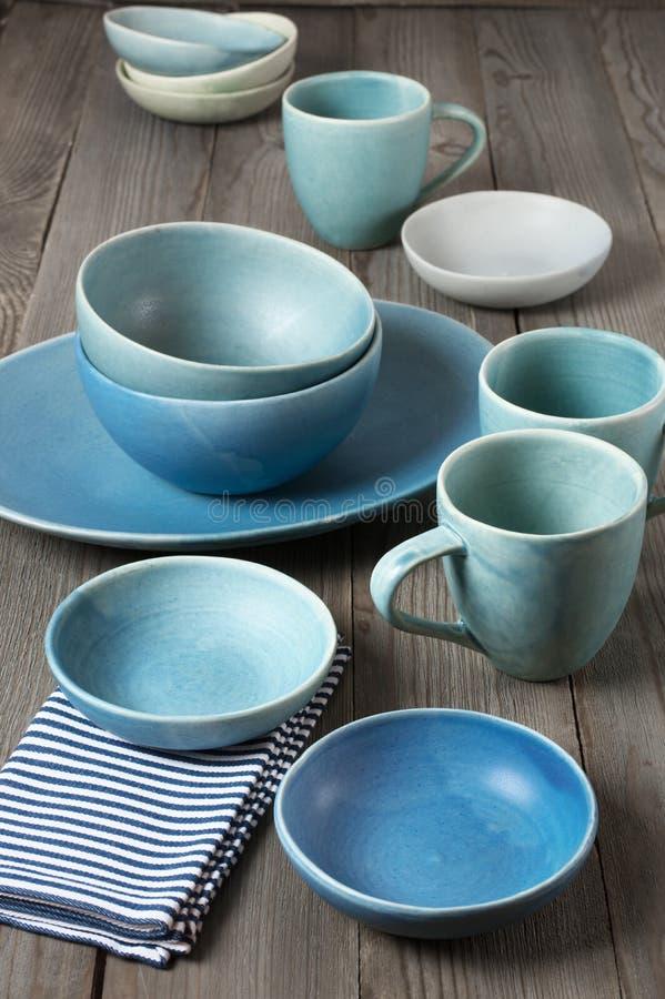 Handmade ceramiczny dishware obrazy stock