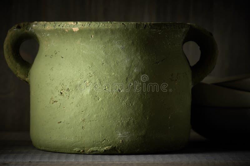 Handmade ceramiczny garnek fotografia stock