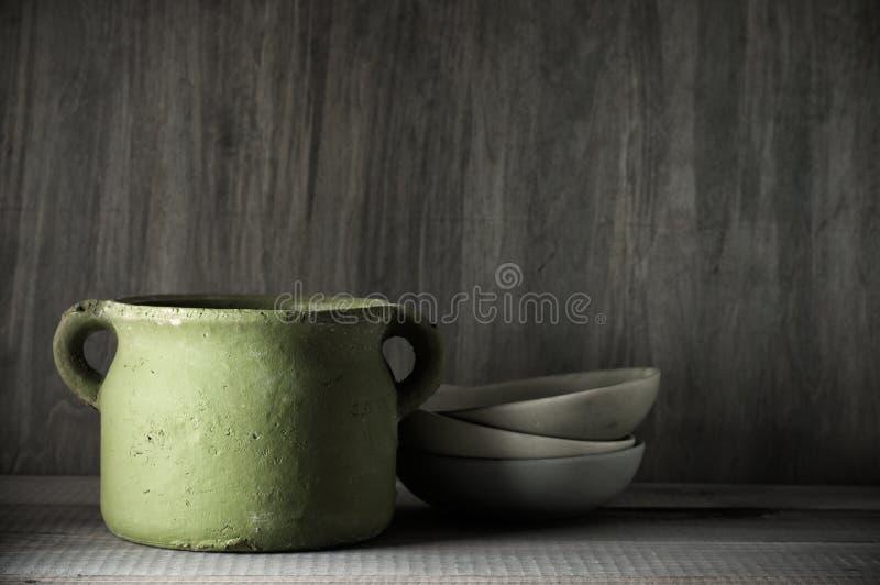 Handmade ceramiczny garnek obrazy stock