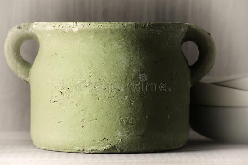 Handmade ceramiczny garnek obraz stock