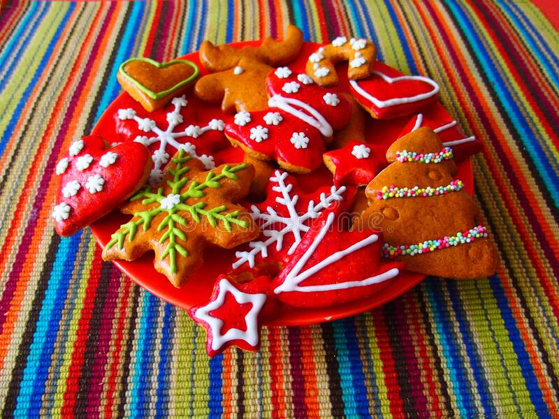 Handmade Christmas cookies royalty free stock images