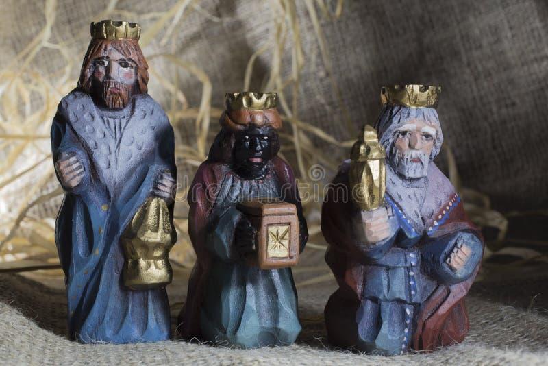 Handmade Christmas crib stock images