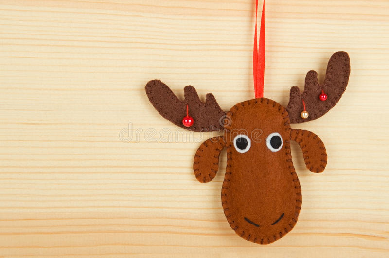 Handmade christmas decorations stock image