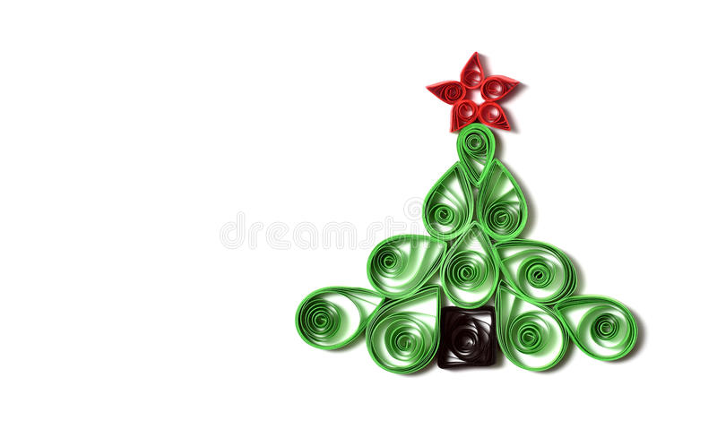 Handmade Christmas tree stock image
