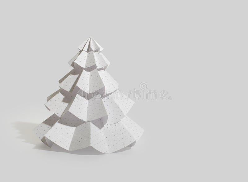 Handmade Christmas tree cut out from office paper stock photography