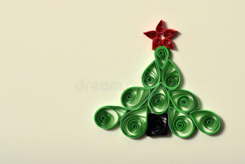 Download Handmade Christmas Tree Cut Out From Paper Stock Image - Image: 28234531
