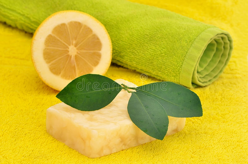 Handmade citrus soap royalty free stock image